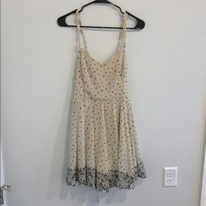 Cream and black floral sundress